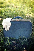 Leather Glove Posters - Suitcase Poster by Joana Kruse