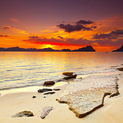 Palawan Framed Prints - Sunset Framed Print by MotHaiBaPhoto Prints