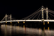 Queen Victoria Prints - The Albert Bridge London Print by David Pyatt
