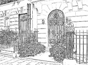 London England  Drawings - The Doors of London by Joseph Hendrix