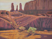 Park Pastels - Three Sisters by Donald Maier