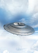Cloud Artwork Prints - Ufo, Artwork Print by Victor Habbick Visions