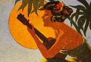 Sunshine Painting Prints - Vintage Hawaiian Art Print by Hawaiian Legacy Archive - Printscapes
