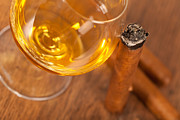 Whisky And Cigars Print by Sabino Parente