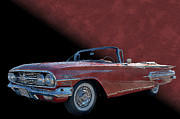 Chev Posters - 60 Chev Convertable Poster by Jim  Hatch