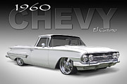 Wheels Digital Art Prints - 60 Chevy El Camino Print by Mike McGlothlen