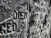 Head Stone Prints - 61 Years Print by Scott Hovind