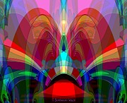 Ornamental Digital Art - 612 - Cathedral outburst by Irmgard Schoendorf Welch