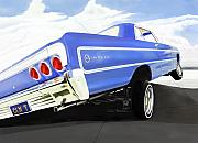 Lowrider Digital Art - 64 Impala Lowrider by Colin Tresadern