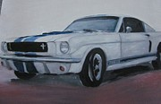 Ford Mustang Painting Framed Prints - 65 Ford Mustang Framed Print by David Poyant