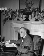 Armband Photos - President Franklin D. Roosevelt by Everett