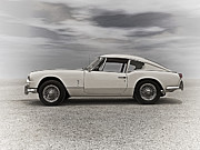 Vintage Digital Art Metal Prints - 67 Triumph GT6 Metal Print by Douglas Pittman