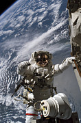 Replacing Posters - Astronaut Participates Poster by Stocktrek Images