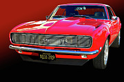 Roadsters Posters - 68 SS Camaro Poster by Bill Dutting
