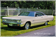 Antique Automobiles Posters - 69 Plymouth Sport Fury Poster by Thomas Schoeller
