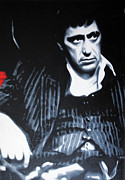 Al Pacino Paintings - - Scarface - by Luis Ludzska