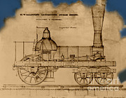 Nineteenth Century Art - 19th Century Locomotive by Omikron