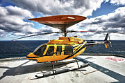 Rotorcraft Photo Prints - A Bell 407 Utility Helicopter Print by Terry Moore