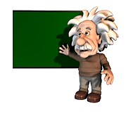 Three D Effect Prints - Albert Einstein, Artwork Print by Friedrich Saurer