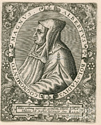 Portrait Woodblock Prints - Albertus Magnus, Medieval Philosopher Print by Science Source