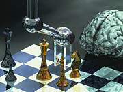 Chessmen Photos - Artificial Intelligence by Laguna Design