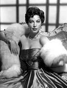 Fur Stole Prints - Ava Gardner Print by Everett