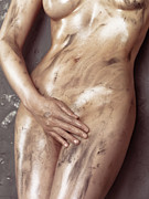 Sexuality Framed Prints - Beautiful Soiled Naked Womans Body Framed Print by Oleksiy Maksymenko
