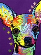 Feline Mixed Media Metal Prints - Chihuahua Metal Print by Dean Russo