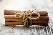 Narrow Focus Framed Prints - Cinnamon sticks Framed Print by Kati Molin