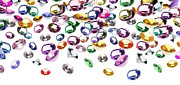 Color Jewelry Prints - Colorful Gems Print by Setsiri Silapasuwanchai