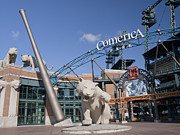 Comerica Park Print by Cindy Lindow