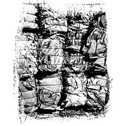 Eco Framed Prints - Compressed pile of paper products Framed Print by Bernard Jaubert