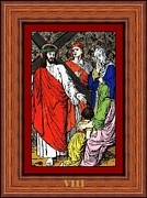 With Glass Art Framed Prints - Drumul Crucii - Stations Of The Cross  Framed Print by Buclea Cristian Petru