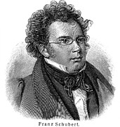 Schubert Framed Prints - Franz Schubert (1797-1828) Framed Print by Granger