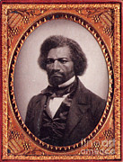 Slavery Metal Prints - Frederick Douglass, African-american Metal Print by Photo Researchers