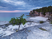 Georgian Bay Cliffs At Sunset Print by Oleksiy Maksymenko