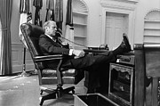 Oval Office Prints - Gerald Ford (1913-2006) Print by Granger