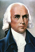 Cravat Framed Prints - James Madison (1751-1836) Framed Print by Granger