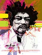 Jimi 333 Print by Bobby LeVangie