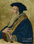 Christian Artwork Photo Metal Prints - John Calvin, French Theologian Metal Print by Photo Researchers