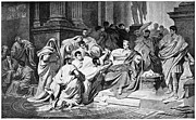 Brutus Photos - Julius Caesar (100-44 B.c.) by Granger