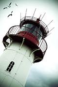 Seagull Photo Prints - Lighthouse Print by Joana Kruse