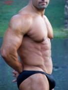 Male Muscleart  Print by Jake Hartz