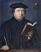 Reformer Metal Prints - Martin Luther (1483-1546) Metal Print by Granger