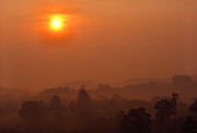 Mountain View Photos - Misty Mountain Sunrise by Thomas R Fletcher