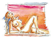 Creative Drawings - Nude by Michal Boubin