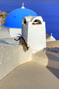 Roof Posters - Oia - Santorini Poster by Joana Kruse