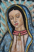 Rain Ririn  Paintings - Our Lady of Guadalupe by Rain Ririn
