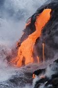 Pour Framed Prints - Pahoehoe Lava Flow Framed Print by Ron Dahlquist - Printscapes