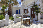 Courtyard Art - Paros - Cyclades - Greece by Joana Kruse